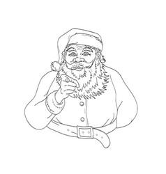 santa claus saint nicholas or father christmas vector image