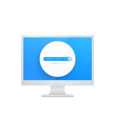 Search bar design on screen vector