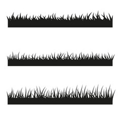set black grass vector image