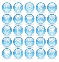 Shine Glass Icons vector image