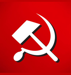 sicklsickle hammer icone vector image