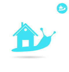 Snail with human house on the back vector