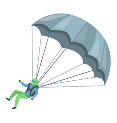 sport parachuting icon cartoon style vector image