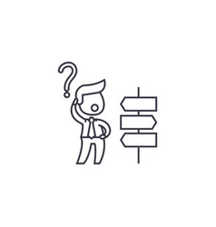 Strategic decisions line icon sign vector