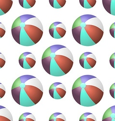 Summer background with beach balls vector