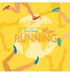 Summer running marathon vector
