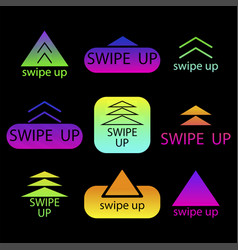 Swipe up abstract digital background modern vector