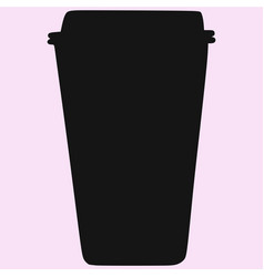 take-out coffee cup vector image