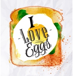 Toast with scrambled eggs vector