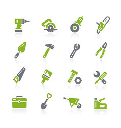Tools icons natura series vector