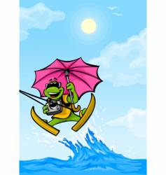 Travel frog vector