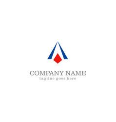 Triangle shape business company logo vector