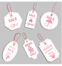 valentine s day sale tag sale coupon voucher tag vector image