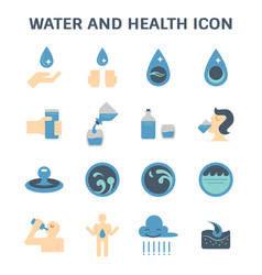 water and health vector image