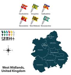 West midlands vector