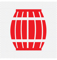wooden beer keg icon design vector image