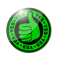 Yes thumbs up icon vector