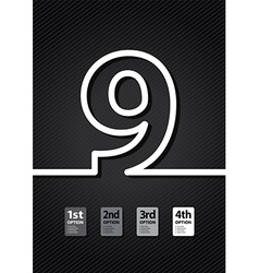 black number vector image vector image