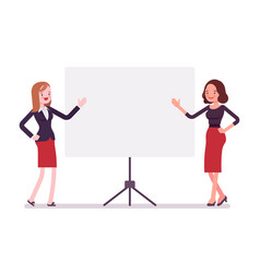 businesswomen at the presentation vector image vector image