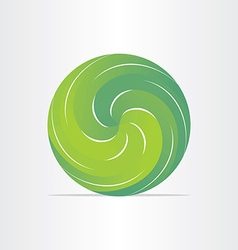 green eco spring design element vector image