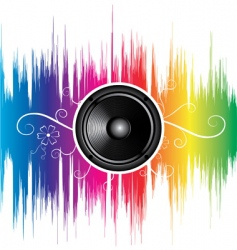 speaker with floral ornament vector image vector image