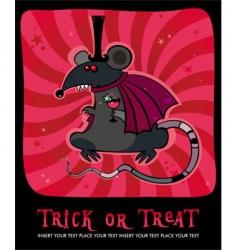 vampire rat vector image vector image
