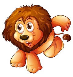 A lion in a jumping position vector image