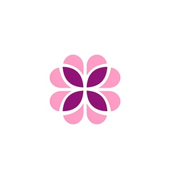 abstract flower geometry decoration logo vector image