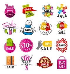 biggest collection of logos discount vector image vector image