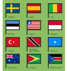 Flags flat set-09 vector image vector image