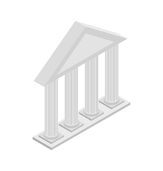 Greek Temple with columns icon isometric 3d style vector image