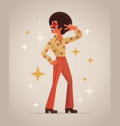 retro disco dancer character vector image vector image