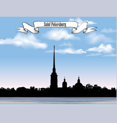 st petersburg landmark russia saint peter and vector image vector image