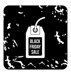 Total black friday icon grunge style vector