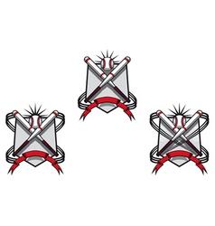 baseball emblems vector image vector image