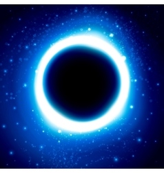 Black Hole in Outer Space Distant Galaxy vector image vector image