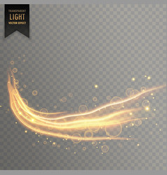 dynamic transparent light effect in gold color vector image vector image