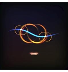 Glowing symbol of infinity vector