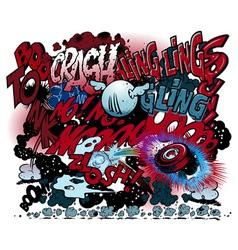 graffiti comic book explosions vector image vector image