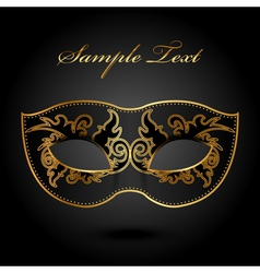 Mystery - background with ornate mask vector image