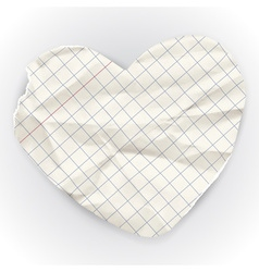 Paper banner in the shape of heart vector image vector image