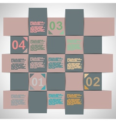 Paper strips for data presentation vector image