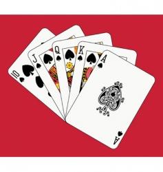 Royal flush spades vector