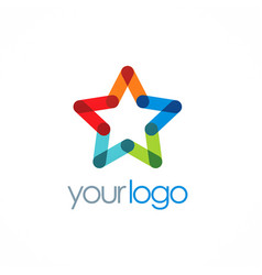 star colorful company logo vector image