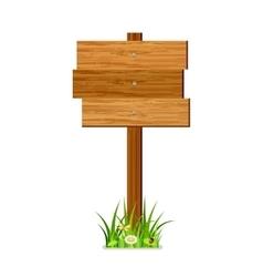 Wooden index vector image