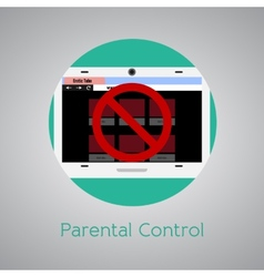 Access forbidden to web page for children vector image