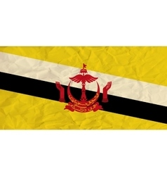 Brunei paper flag vector image