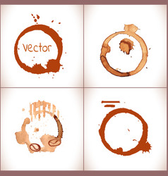coffee stain on a white background vector image