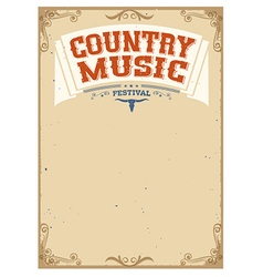Country music festival background for text vector image vector image