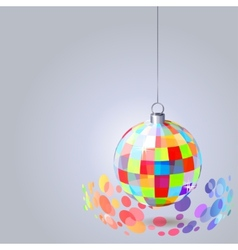 hanging mirror ball vector image vector image
